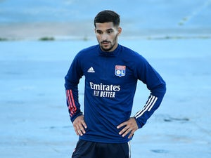 Lyon's Houssem Aouar pictured in August 2020