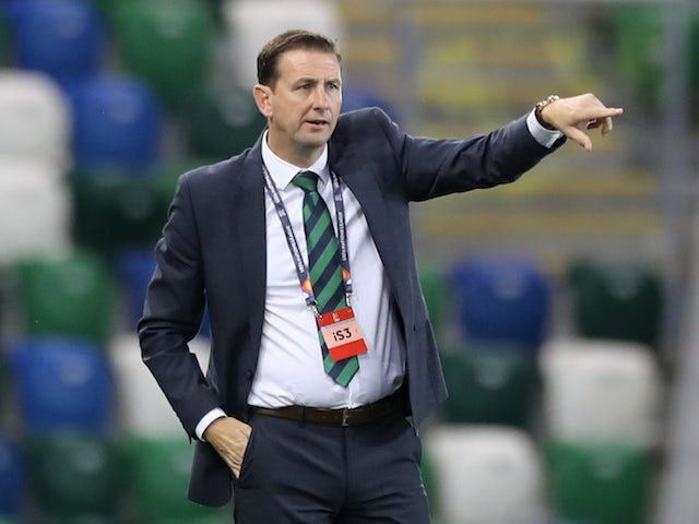 Northern Ireland manager Ian Baraclough pictured on September 7, 2020