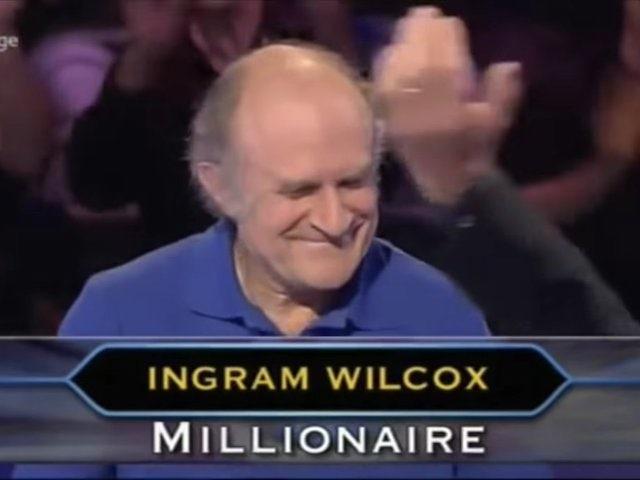 Fifth WWTBAM winner Ingram Wilcox
