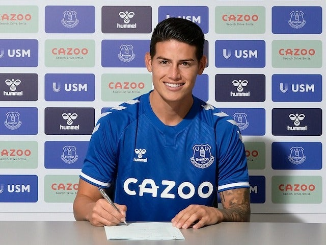 James Rodriguez signs for Everton in September 2020