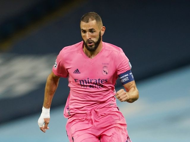Real Madrid's Karim Benzema pictured in August 2020