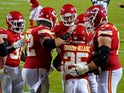 Kansas City Chief players celebrate a touchdown against Houston Texans on September 11, 2020