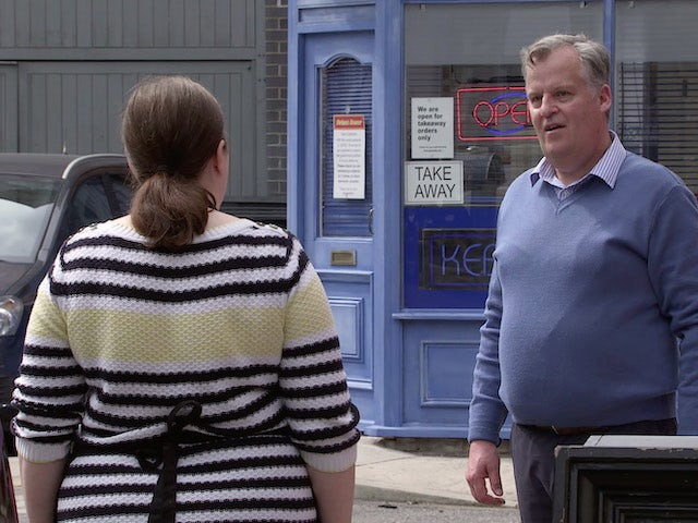 Brian and Mary on the first episode of Coronation Street on September 23, 2020