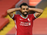 Liverpool's Mohamed Salah celebrates his hat-trick against Leeds United on September 12, 2020