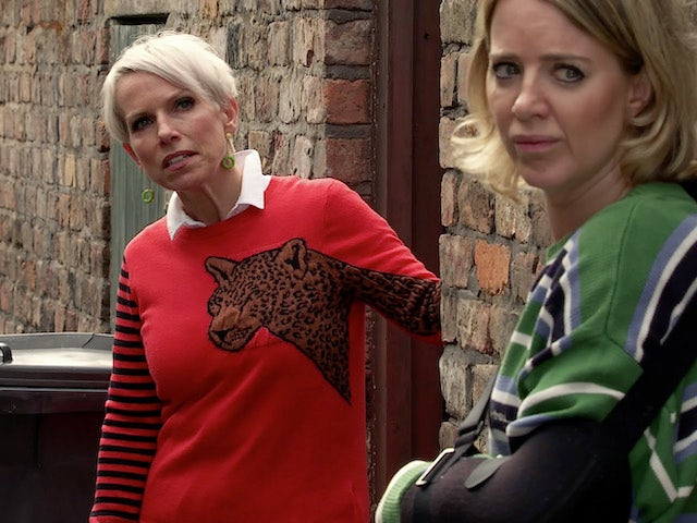 Debbie and Abi on the second episode of Coronation Street on September 21, 2020