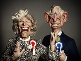 Prince Charles and Camilla on Spitting Image