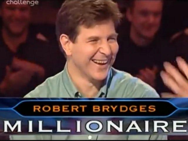 Third WWTBAM winner Robert Brydges