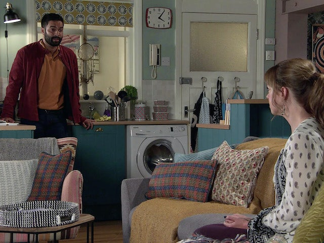 Imran and Toyah on the second episode of Coronation Street on September 14, 2020