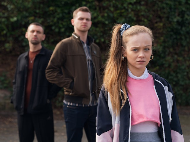 Juliet, Jordan and Victor on Hollyoaks on September 16, 2020