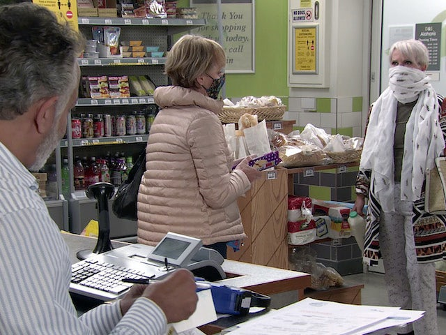 Debbie and Sally on the first episode of Coronation Street on September 16, 2020