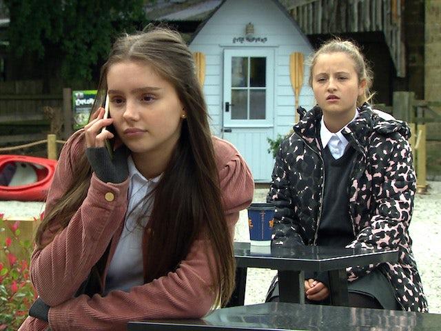 Sarah and Amelia on Emmerdale on September 16, 2020