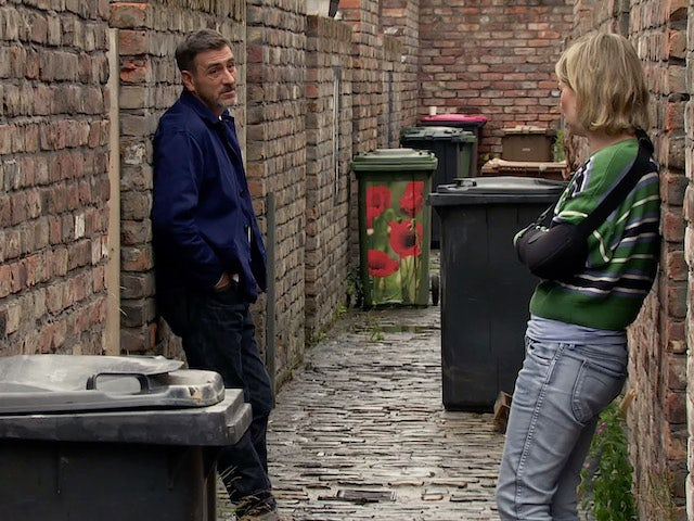 Abi and Peter on the second episode of Coronation Street on September 21, 2020
