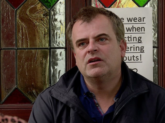 Steve on the second episode of Coronation Street on September 21, 2020
