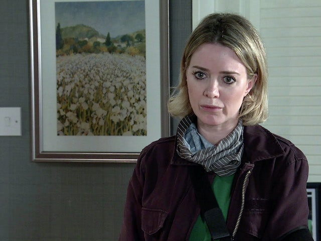 Abi on the second episode of Coronation Street on September 18, 2020