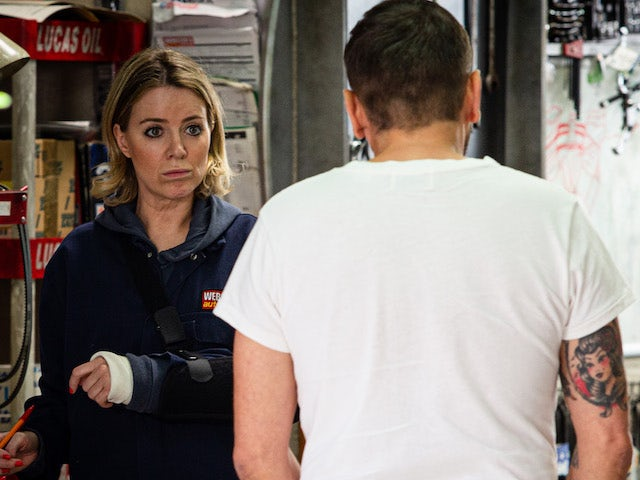 Abi and Peter on the second episode of Coronation Street on September 23, 2020