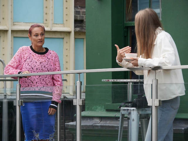 Tina and Frankie on EastEnders on September 14, 2020