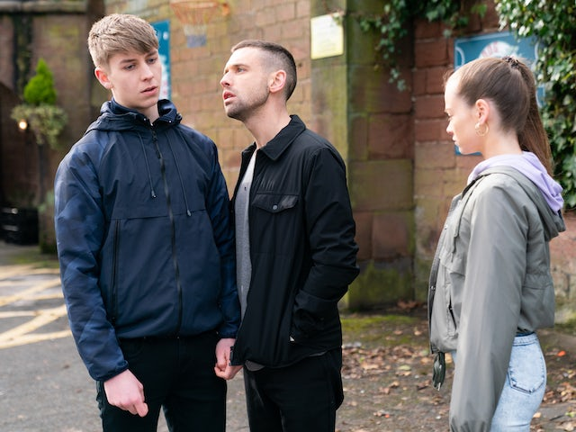 Juliet, Sid and Victor on Hollyoaks on September 16, 2020