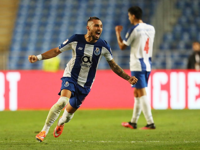 Porto's Alex Telles in action against Benfica in August 2020