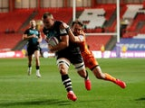 Ben Earl scores a try Bristol against Dragons on September 18, 2020