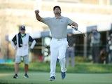 Bryson DeChambeau celebrates winning the US Open on September 20, 2020