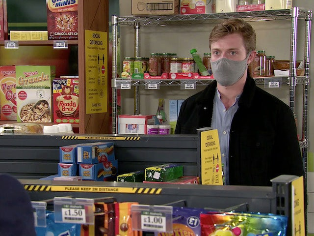 Daniel on Coronation Street's first episode on September 28, 2020