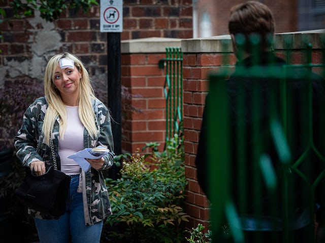 Nicky on Coronation Street's first episode on September 28, 2020