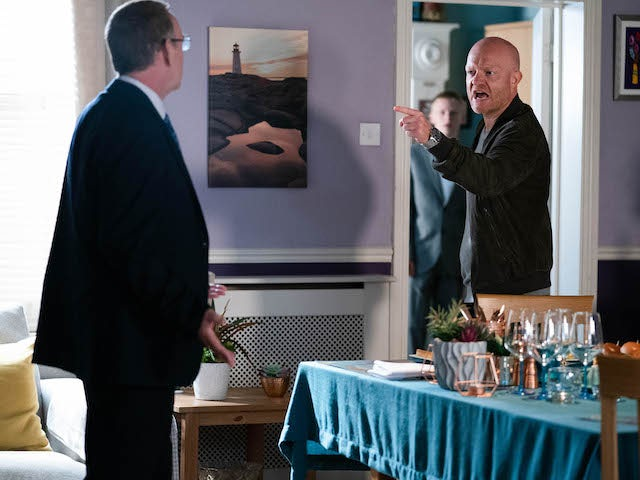 Ian and Max on EastEnders on September 28, 2020