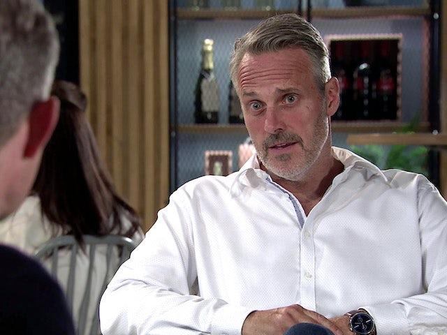 Rick on Coronation Street's first episode on September 30, 2020