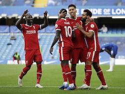 Liverpool's Sadio Mane celebrates scoring against Chelsea in the Premier League on September 20, 2020