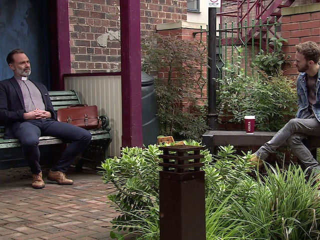 Billy and David on Coronation Street's first episode on October 5, 2020