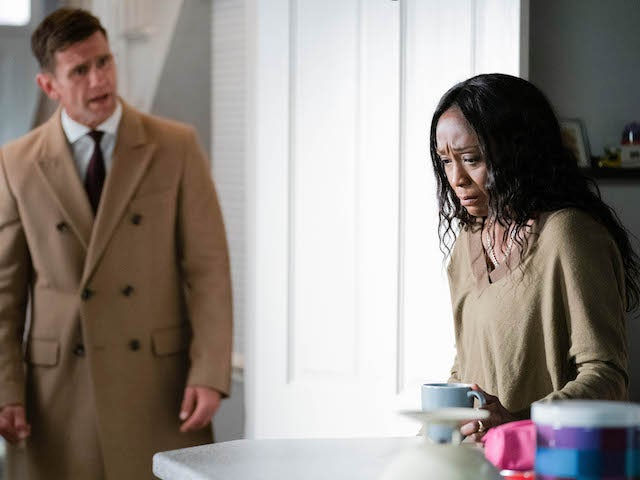 Jack and Denise on EastEnders on October 1, 2020