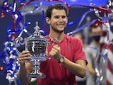 Dominic Thiem celebrates winning the US Open on September 13, 2020