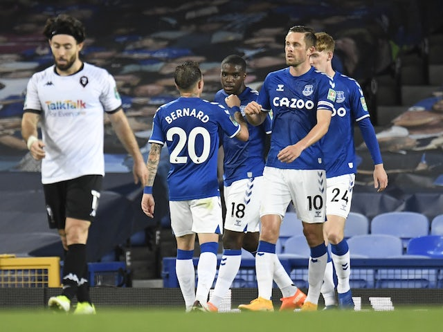 Result: Everton ease past Salford City into third round of EFL Cup