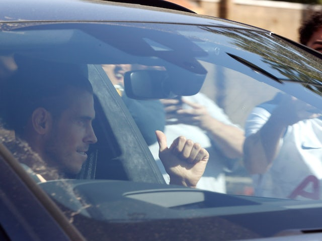 Gareth Bale arrives at the Tottenham Hotspur training ground on September 18, 2020