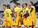 Tottenham Hotspur's Tanguy Ndombele celebrates scoring against Lokomotiv Plovdiv in the Europa League on September 17, 2020