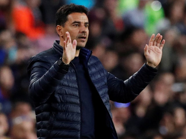 Huesca boss Michel pictured while in charge of Rayo Vallecano in March 2019