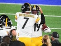 JuJu Smith-Schuster and Ben Roethlisberger of the Pittsburgh Steelers pictured on September 14, 2020