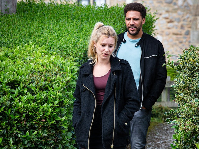 Billy and Dawn on Emmerdale on October 8, 2020
