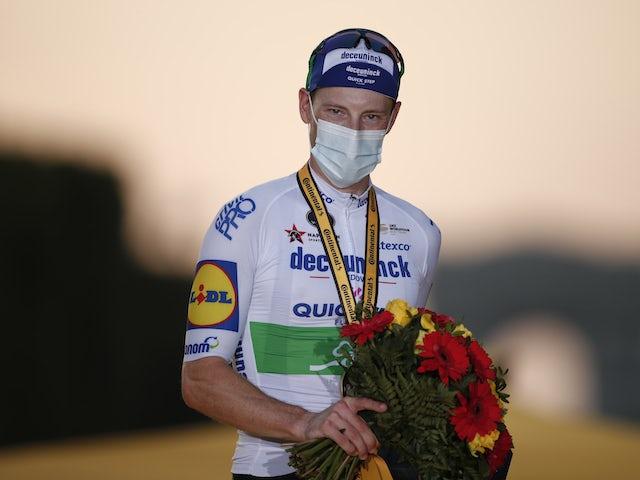 Sam Bennett relegated to last despite crossing line first on stage nine of La Vuelta a Espana