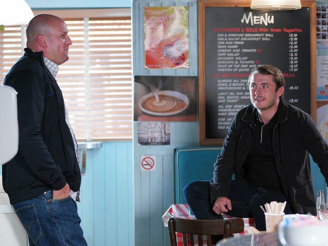 Stuart and Ben on EastEnders on September 28, 2020
