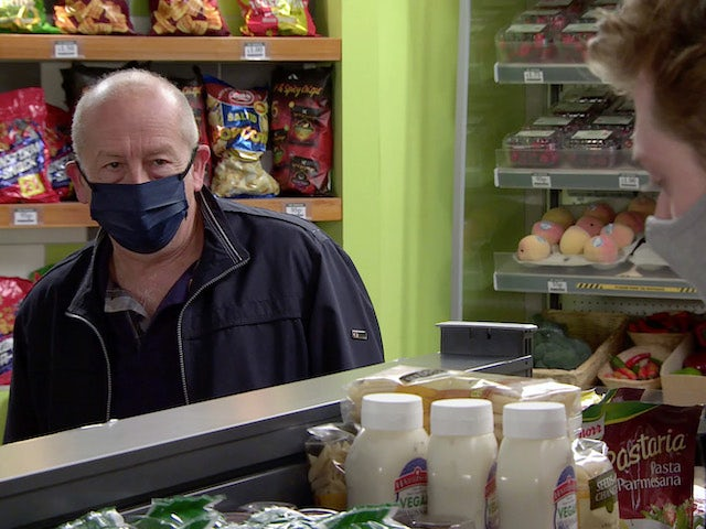 Geoff on Coronation Street's first episode on September 28, 2020