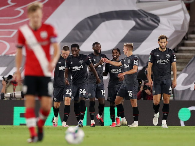 Result: Southampton knocked out of EFL Cup by Brentford