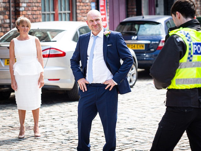 Sally and Tim on Coronation Street's second episode on October 7, 2020