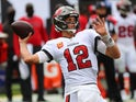 Tampa Bay Buccaneers quarterback Tom Brady in action on September 20, 2020