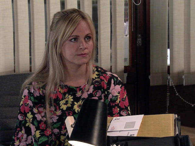 Sarah on Coronation Street's second episode on September 28, 2020