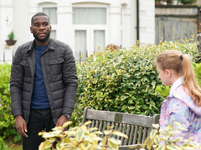 Isaac on EastEnders on October 1, 2020