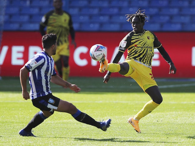 Watford's Domingos Quina in action against Sheffield Wednesday on September 19, 2020