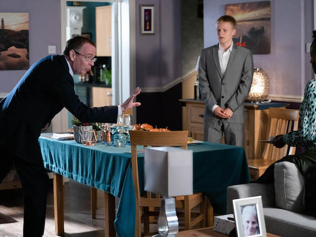 Ian and Bobby on EastEnders on September 28, 2020