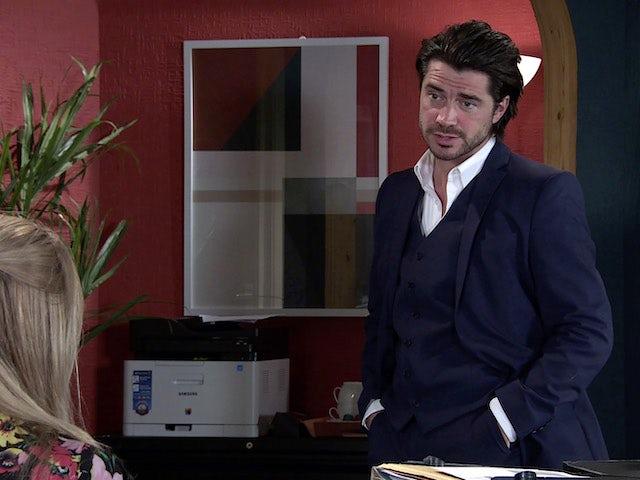 Adam on Coronation Street's second episode on September 28, 2020