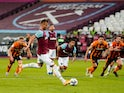 Andriy Yarmolenko scores for West Ham United against Hull City in the EFL Cup on September 22, 2020